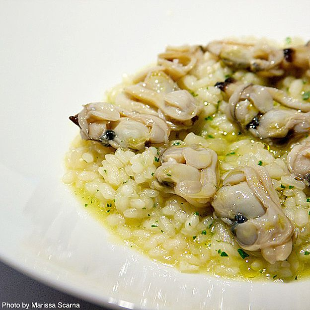 Arroz caldoso con almejas.Hand-harvested Galician clams from Spain by Jose Andres Foods
