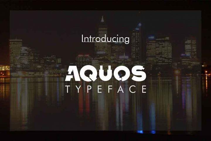 Aquos Typeface from FontBundles.net