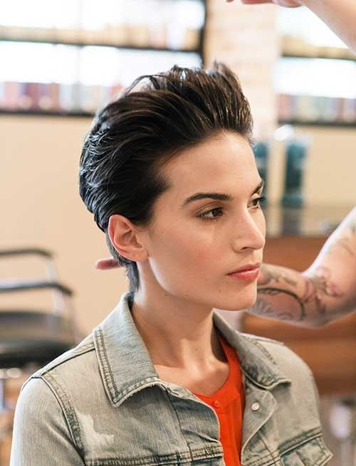 Bold Slicked Back Hairstyles for Women 2016 | Hairstyles 2016 New Haircuts and Hair Colors from special-hairstyles.com