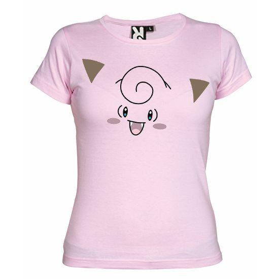 """T-shirt Rose pour Femme (différentes tailles disponibles), logo """"Mélofée"""" imprimé au format A4 (impression résistante et durable)"""