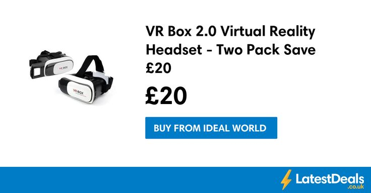 VR Box 2.0 Virtual Reality Headset - Two Pack Save £20 at Ideal World