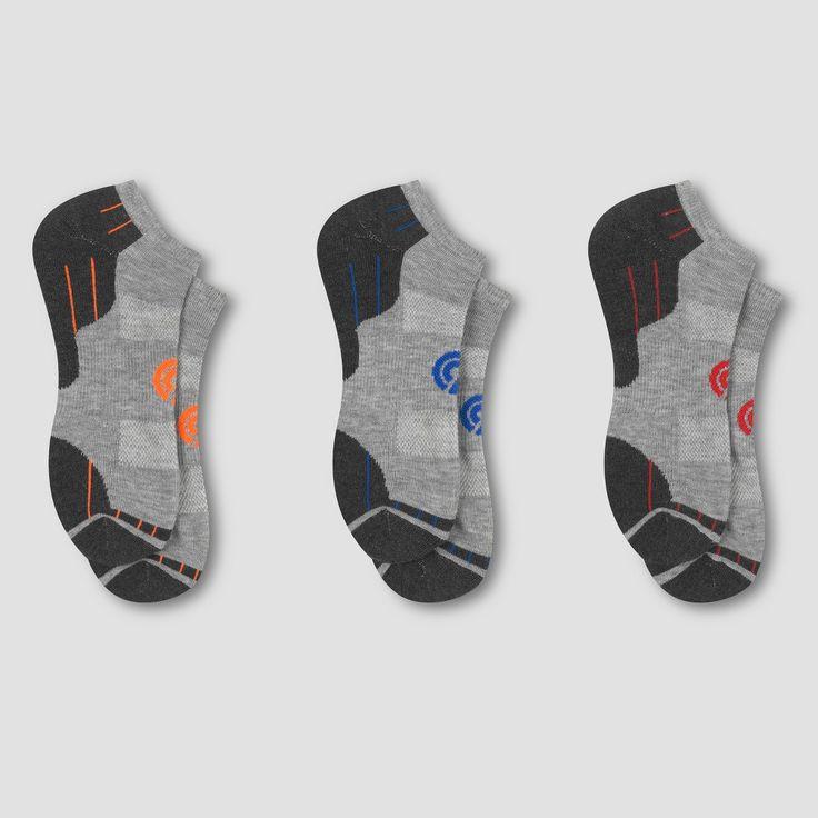 Men's No Show Athletic Socks 3pk - C9 Champion Gray 6-12