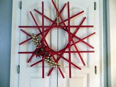 dowel wreath DIY .- cute for next year