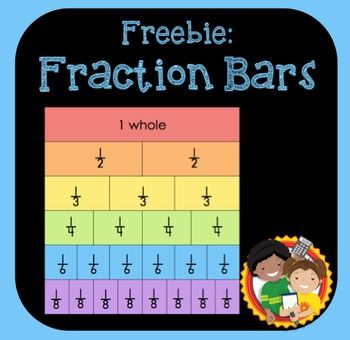 This freebie has 4 different options for printing fraction bars. You can choose the one that is best for your class. 1) Blank Fraction Bars2) Colored Fraction Bars3) Labeled Fraction Bars4) Colored and Labeled Fraction Bars I suggest using card stock to make fraction bars.