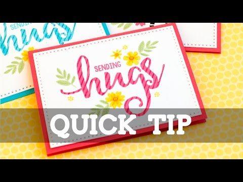 Quick Tip: Striped Stamping - Jennifer McGuire Ink