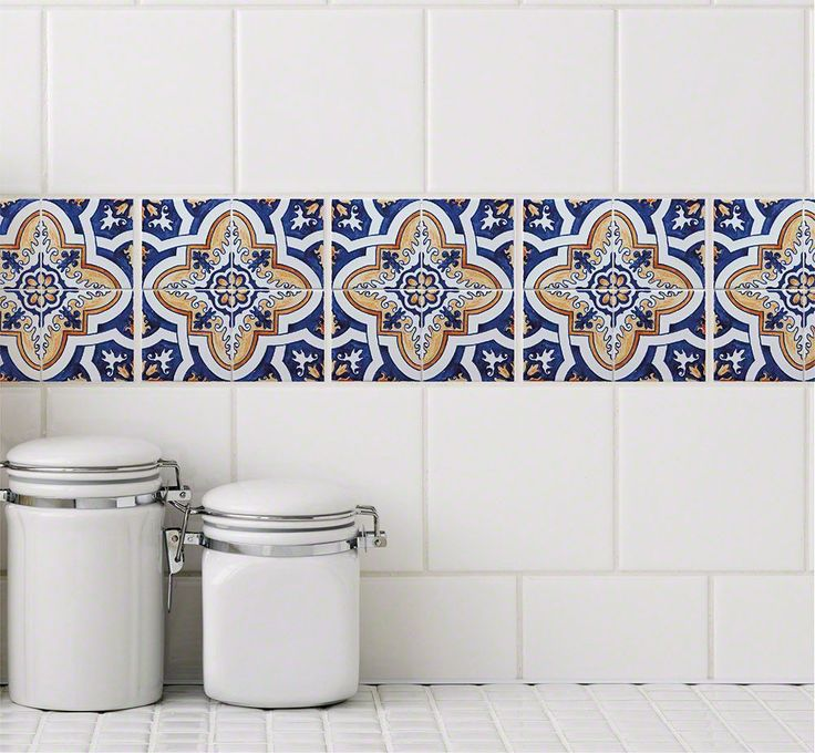 The Casita design decals recreate the look of hand-painted, well aged Spanish style tiles. They are easy to apply and can be removed without leaving residue.