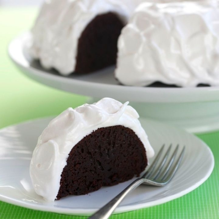 Tried, very rich ~ but hubby and kids loved. Chocolate Bundt Cake with Fluffy Icing Recipe | SPLENDA®