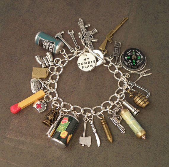 Zombie Plan Charm Bracelet For The Zombie Apocalypse... by PlayBox, £20.00