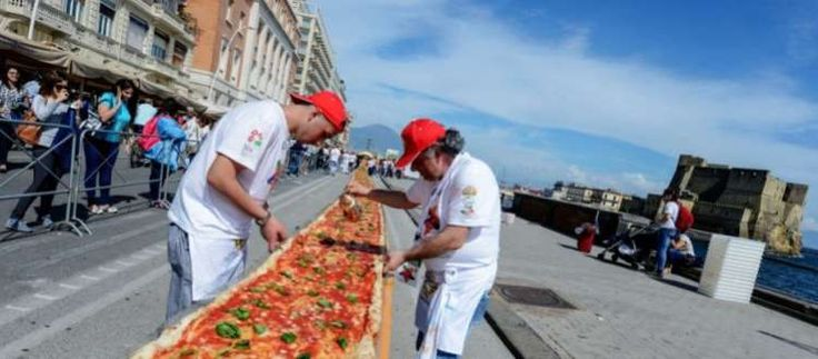 La pizza di Napoli nel Guinness dei primati 185388 metri di bontà