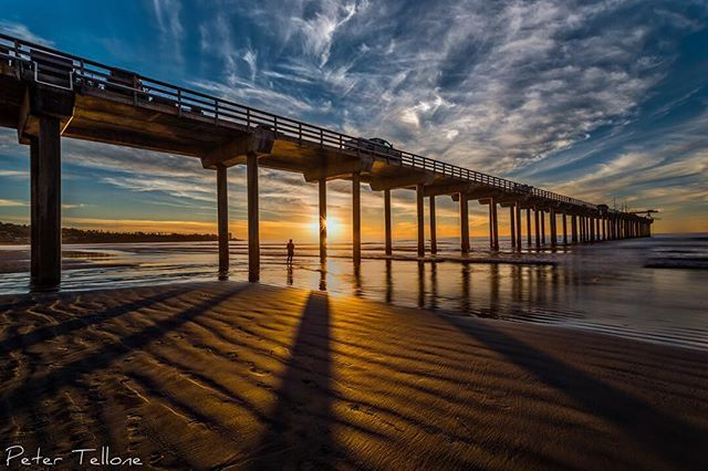 """""""Where the Long Shadows Fall"""" #scrippspier #lajolla #lajollashores #sunset #shadows #fineart #finelandscapes #fineartphotography #wallart #walldecor #interiordesign #interiordesigners #lajollalocals #sandiegoconnection #sdlocals - posted by Peter Tellone  https://www.instagram.com/petertellone. See more post on La Jolla at http://LaJollaLocals.com"""