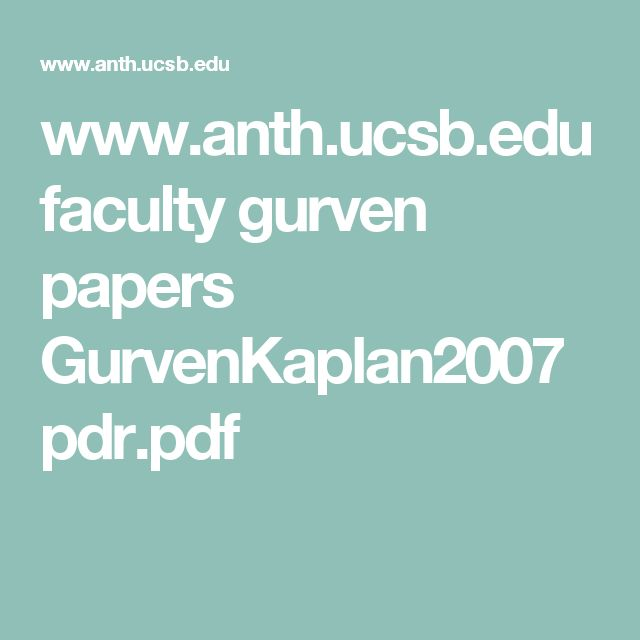 www.anth.ucsb.edu faculty gurven papers GurvenKaplan2007pdr.pdf