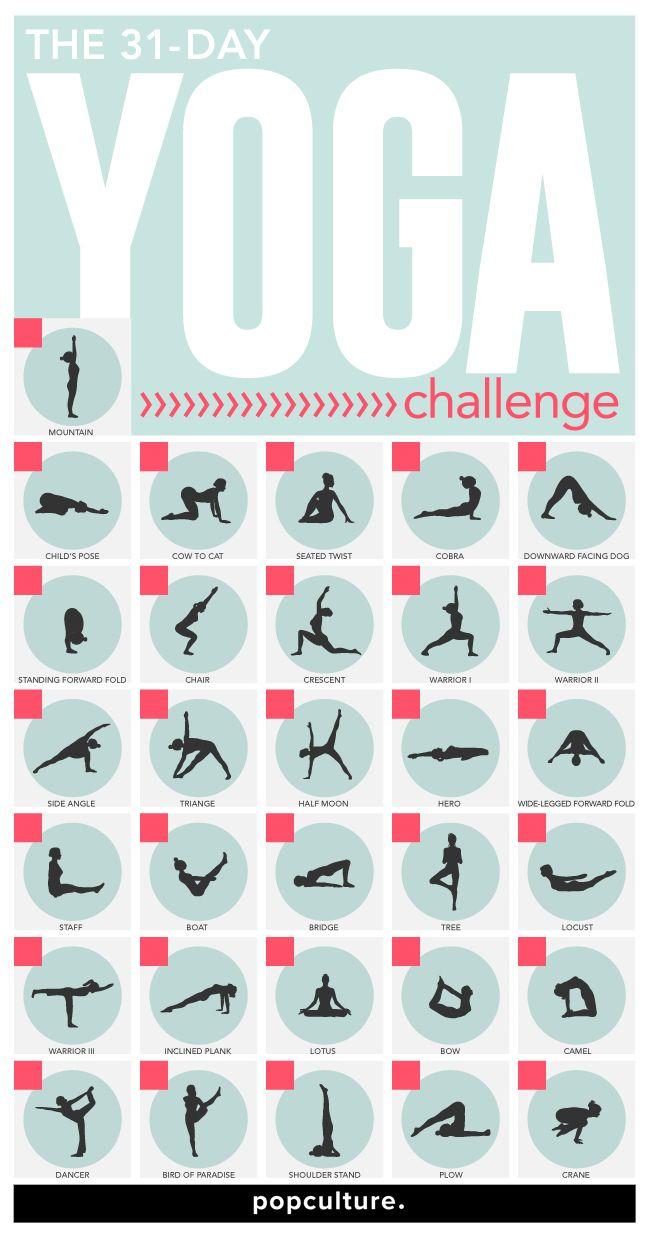31 Day Yoga Challenge 30 Day Yoga 30 Day Yoga Challenge Yoga Challenge