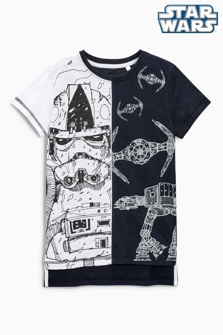 Buy Black/White Star Wars™ T-Shirt (3-14yrs) from the Next UK online shop