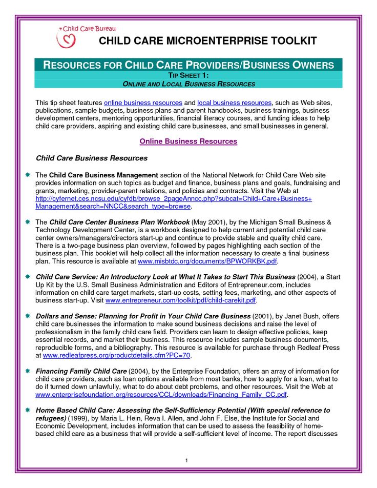 20 Child Care Business Plan Template in 2020 (With images