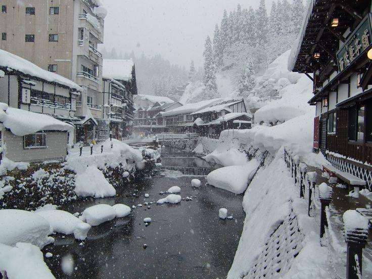 雪の銀山温泉 2015.1