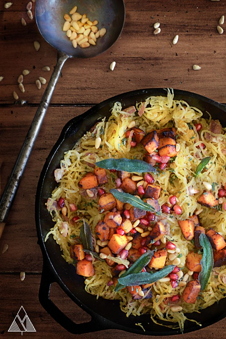 Spaghetti Squash with Prosciutto, Sage & Butternut Squash