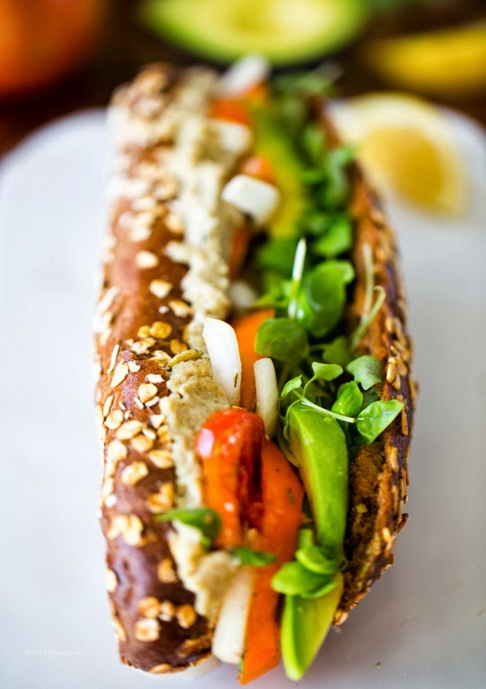 Avocado-Caprese Sandwich. #vegan