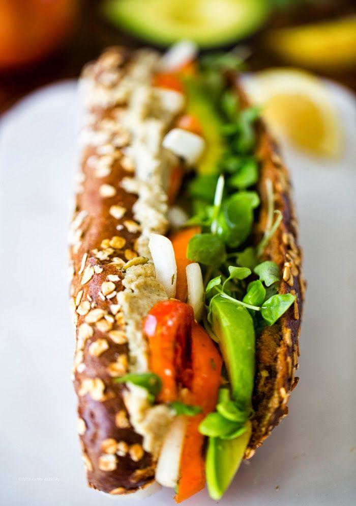 Avocado-Caprese Sandwich. #vegan