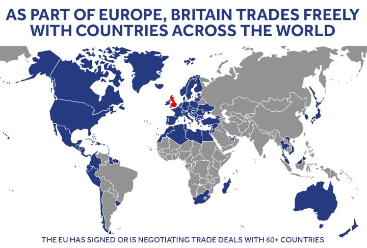 60+ Reasons To Stay: UK Would Lose EU Free Trade Deals Worth £235 Billion