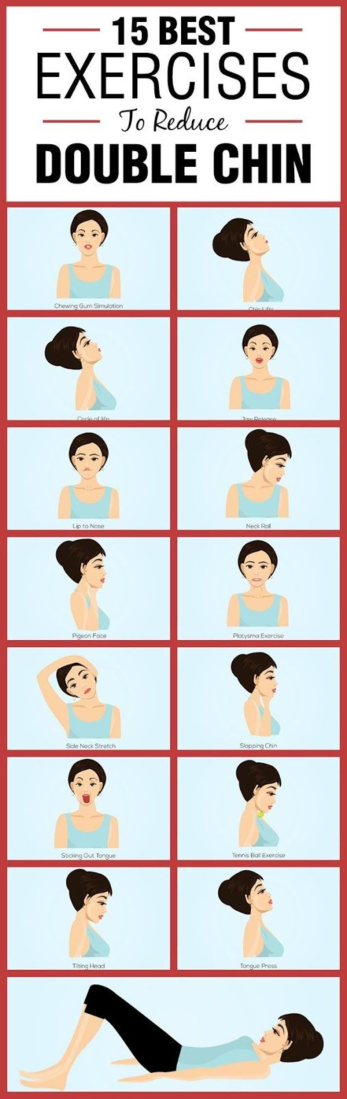 15 Best Exercises To Reduce Double Chin   Beauty Bazar
