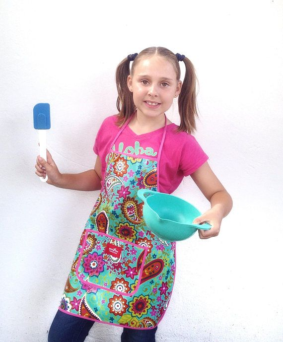 Girls Apron for Little Chef Child Size Apron for School