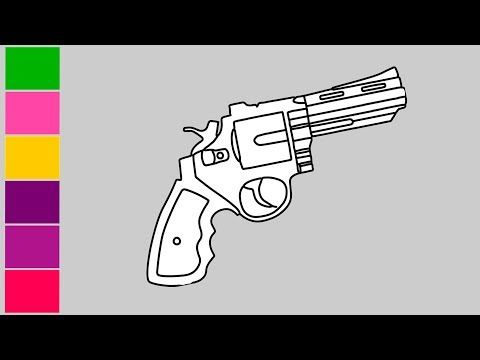 How To Draw Fortnite Guns Easy Cool Kids Art How To Pencil