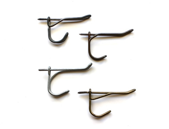Get Hooked  Antique Set of 4 Metal Hooks by becaruns on Etsy, $10.50