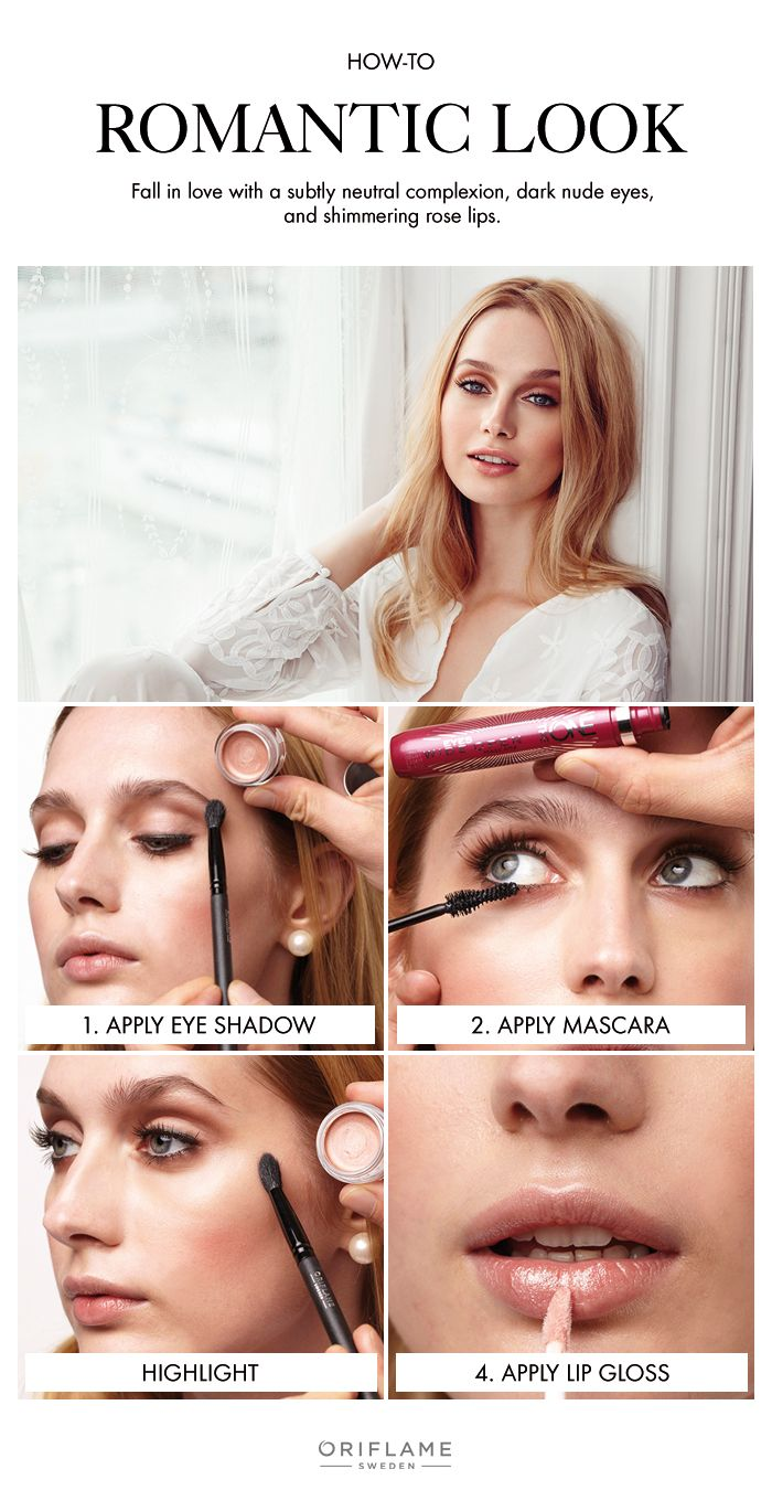 This romantic make-up trend is the perfect mix of flirty and delicate.