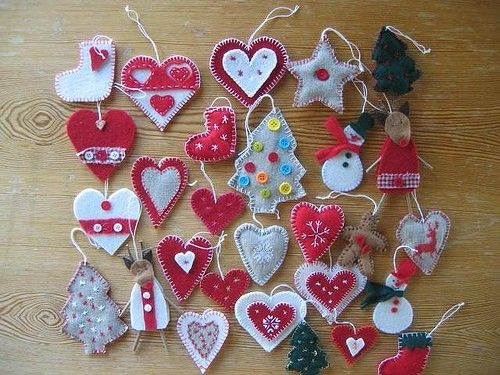 Christmas Felt Ornaments by lovetosew
