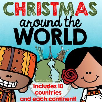 Christmas Around the World NO PREP activity pack featuring 10 countries and every inhabited continent! Countries and continents include Africa- Ethiopia, Asia- China, Japan, Australia, Europe- Italy, The Netherlands, Sweden, North America- Canada, USA, Mexico, South America- Brazil. This pack includes information posters about each country's Christmas traditions and customs, graphic organizers, student work pages, student passports, and posters featuring maps and flags. Perfect for December!