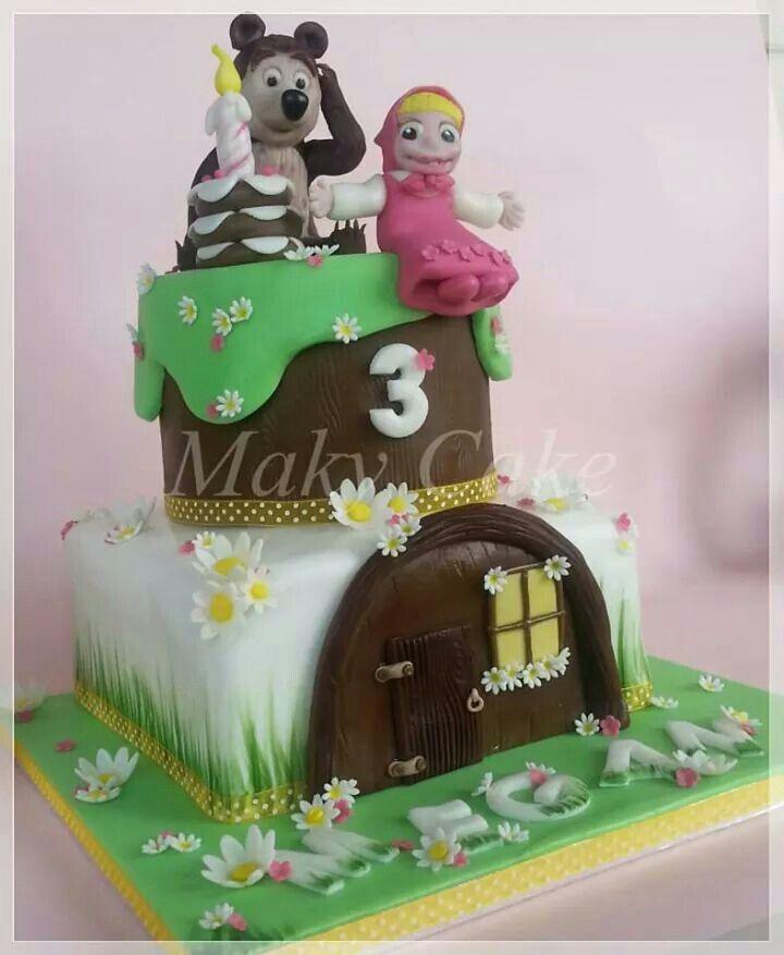 Masha e orso. ..masha and the bear cake