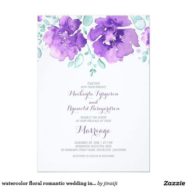 52 best ♥ Floral Wedding Invitations ♥ images on Pinterest | Rose ...