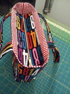 Diy Un autre sac avec fermeture éclair enchâssée. (Tutorial: Add a Recessed Zipper to a Tote - Stitch Lab Blog) (http://stitchlab.tumblr.com/post/81556533527/tutorial-add-a-recessed-zipper-to-a-tote)