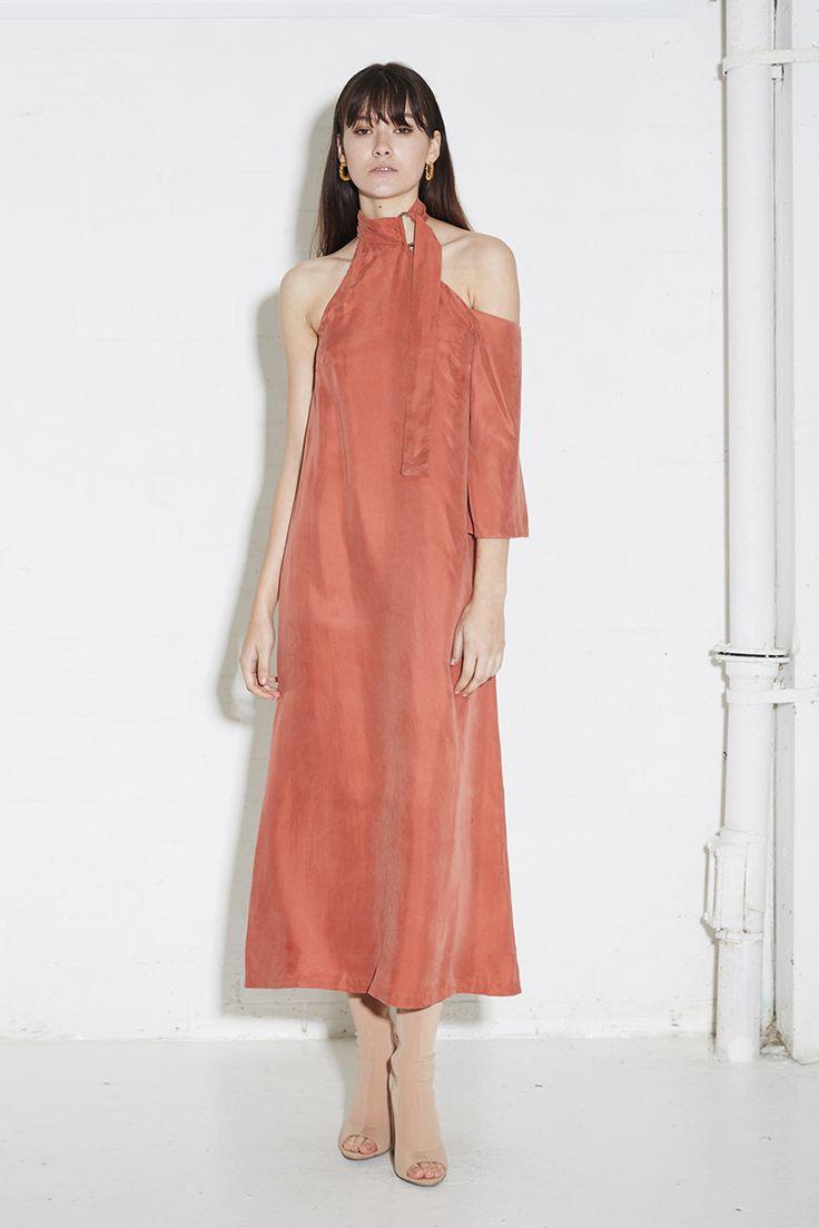 THIRD FORM SPRING 16 'COME CLOSER MAXI DRESS'  #thirdform #dress #fashion #streetstyle #style #minimalism #trend #blush #minimalfashion