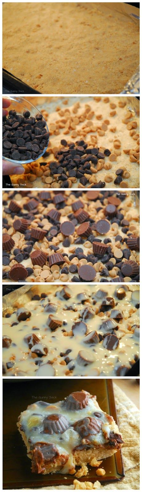 Reese's Peanut Butter Cup Cookie Bars...I might try it with a chocolate cake mix instead of vanilla!