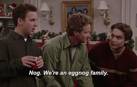 New party member! Tags: christmas boy meets world eric matthews eggnog will friedle nog were an eggnog family