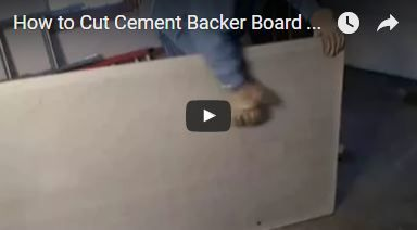 how to cut cement backer board video http www. Black Bedroom Furniture Sets. Home Design Ideas