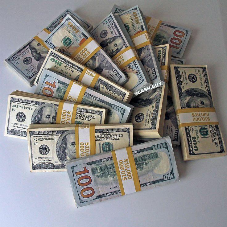 $100 dollar bills stacks. Colorful money stacks at the desk. Enjoy money!