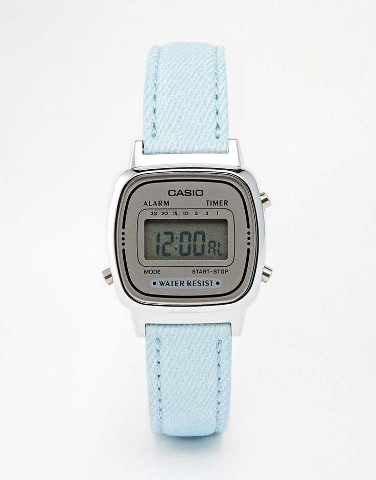 Image 1 of Casio LA670WEL-2AEF Mini Baby Blue Leather Digital Watch                                                                                                                                                                                 More