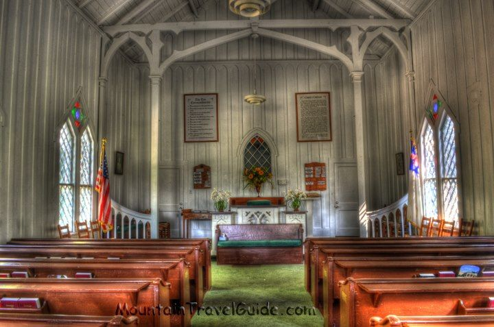 Inside Crescent Hill Baptist Church Helen Georgia