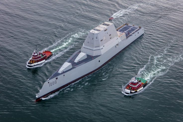 USS Zumwalt's first sea trials in December 2015 :Photo: Dave Cleaveland/MaineImaging.com