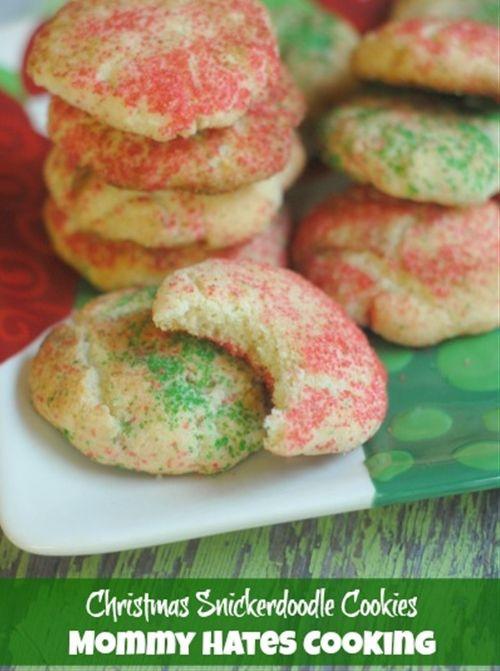 Christmas Snickerdoodle Cookies