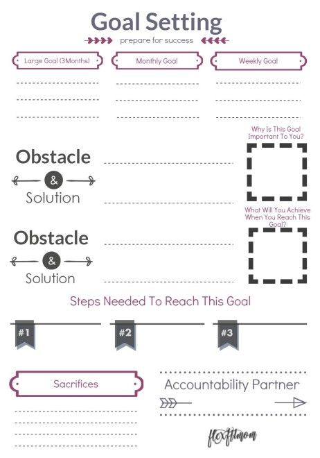 FREE printable - goal setting learn how to achieve your largest goals