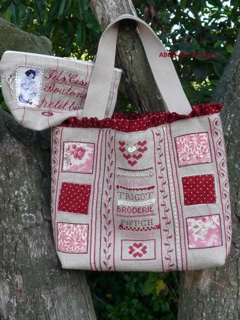 sac patch et broderies