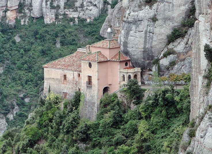 Abbey Santa Maria de Montserrat, Catalonia
