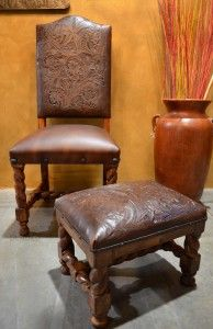 We love these small, iron clavos added to the Silla Cristy Chair and Footstool.