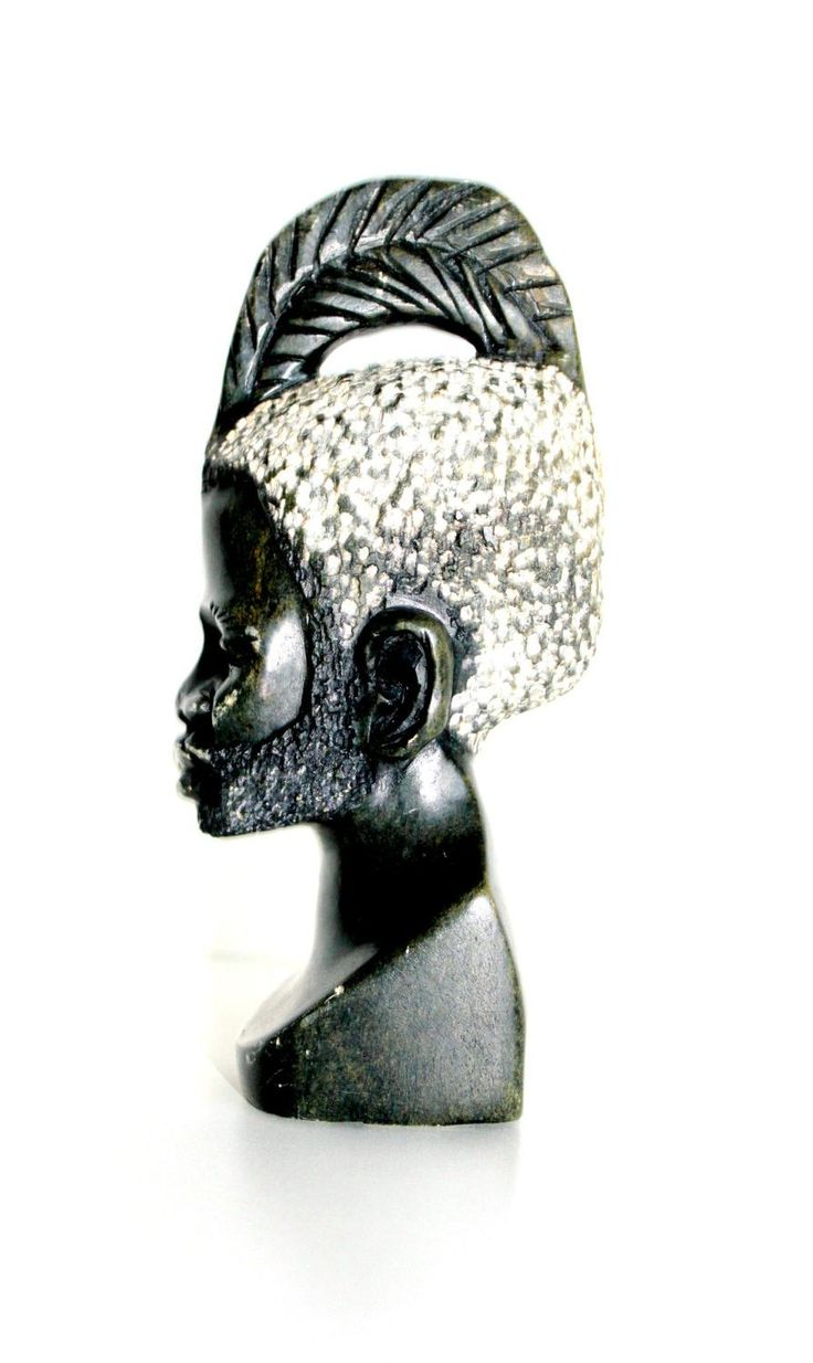 African Art, African Sculpture, Mid Century African Shona Carving, African Carved Bust Tribal Art, Africa