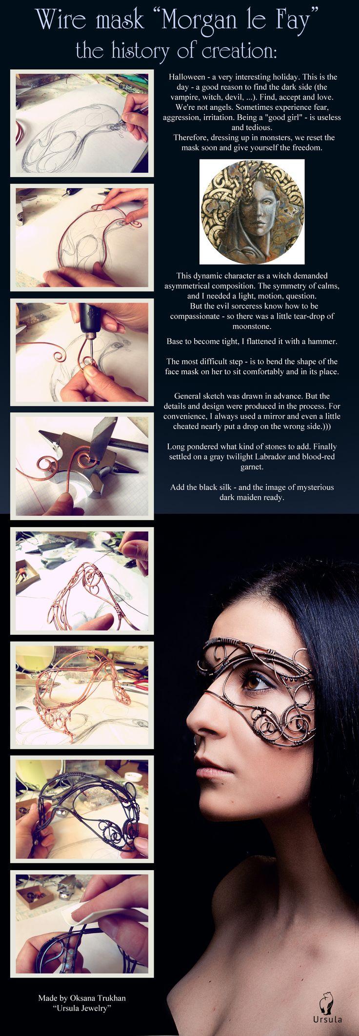 Antifaz de alambre- UrsulaOT.deviantart.com on @deviantART