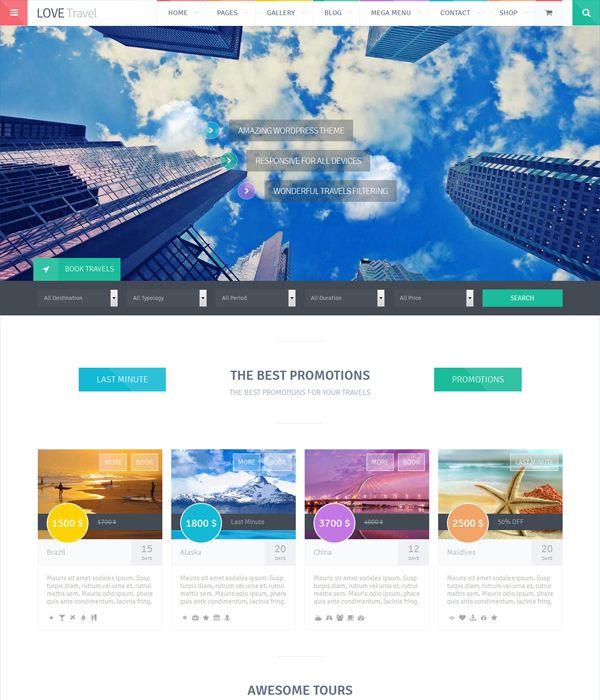 Love Travel - Creative Travel Agency WordPress Themes