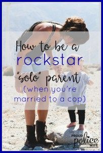 Parenting is hard enough but it feels even harder for me as a police wife! My officer husband works all the time! This post is encouraging!